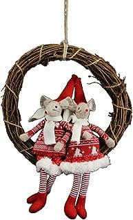 Gisela Graham Mice Twig Christmas Wreath