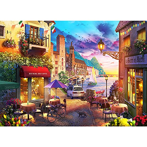 Jigsaw Puzzles for Adults 1000 Pieces Jigsaw Puzzle Harbor Cafe Jigsaw Puzzles 1000 Piece Puzzle