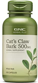 GNC Herbal Plus Cat's Claw Bark 500mg, 100 Capsules, Immune Support