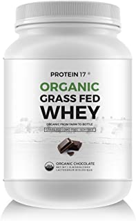 Protein 17 New and Unique Organic Grass-Fed Whey Protein Chocolate, 20 Ounce
