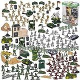 Blue Panda 300 Piezas de Acción Conjunto del Ejército Figuras, Tanques de Juguete Soldado Militar Parque Infantil, Aviones, Banderas de Batalla Partido de los Accesorios de visualización Multicolor