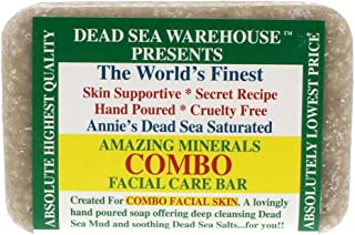 Dead Sea Warehouse - Amazing Minerals Combination Facial Skin Soap Bar, Hand Crafted with Deep Cleansing Dead Sea Mud and Soothing Dead Sea Salts (5.2 Ounces)