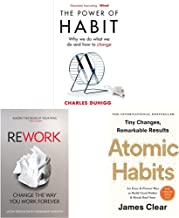 The Power of Habit: Why We Do What We Do, and How to Change+ReWork: Change the Way You Work Forever+Atomic Habits: The lif...
