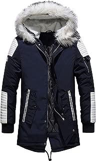 Best men's navy parka coat with fur hood Reviews