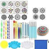 Opaltool Juego de 35 herramientas de punteado de mandala, para pintar y pintar, para pintar en roca, colorear, dibujar y dibujar suministros de arte (no incluye pintura)