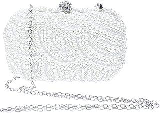 SXON Damen Glänzend Perle Einfache Quadratische Abendtasche Bankett Handtasche Minitasche