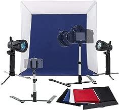 Mini Photo Studio Box, 60cm Portable Photography Shooting Light Tent Kit, White Folding Lighting Softbox with 4 Backdrops for Product Display