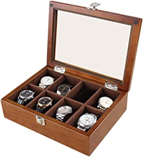Watch Storage Box Wood Watch Jewelry Storage Box (Color : Walnut)