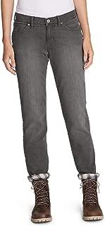 Women's Boyfriend Flannel-Lined Jeans