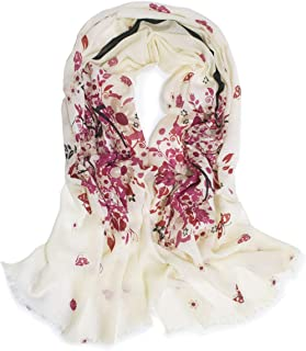 Dahlia Women's 100% wool Scarfs, Wraps, and Shawls, Ink Painting Flower Style