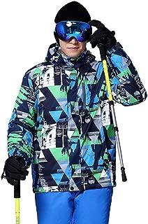 Waterproof Hooded Jacket Zip Winter Coat for Hiking Skiing Trekking Travelling Windbreaker Mountaineering,Blue,XL