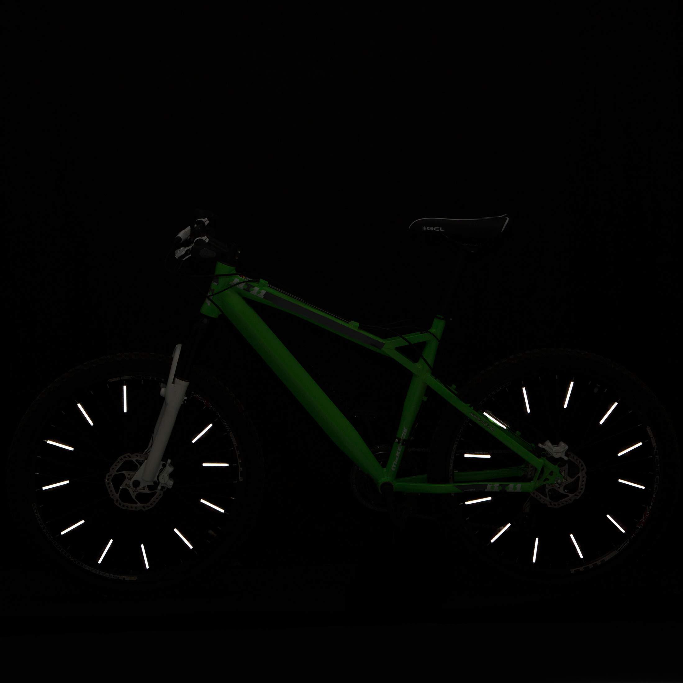 Ultrasport Paquete de 10 Reflectores para radios, Seguridad para la Bicicleta en Cualquier condición meteorológica y de luz, Unisex, Gris, OS: Amazon.es: Deportes y aire libre