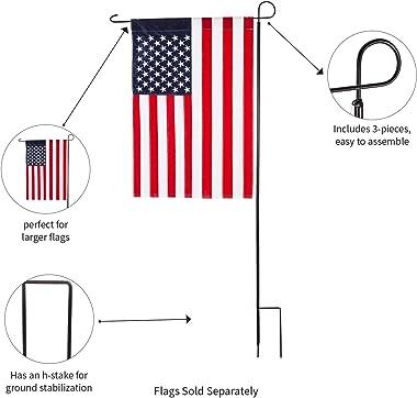 "Evergreen Flag Large Black Iron Flag Stand - 40""W x 89""H"