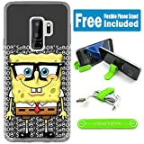 [Ashley Cases] For Samsung Galaxy S9 Cover Case Skin With Flexible Phone Stand - Spongebob Nerd G