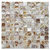 Art3d Shell Mocaic Tile for Bathroom/Shower Room/Kitchen Backsplashes, 10 Sq Ft (10 Sheets)