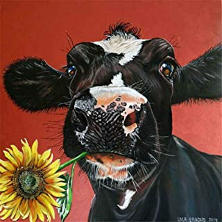 DIY Diamond Painting Kits for Adults, Kids,Home Decor Room Office Presents for Him Her Black Cow Sun Flower 11.8x11.8in 1 by Lighting S Direct