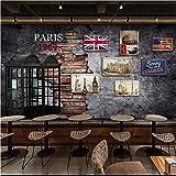 Wzxzf Große Tapeten Vintage Telefonzelle Fototapete Wandbild Retro Brick Wall 3D Silk Wallpaper-350Cmx245Cm
