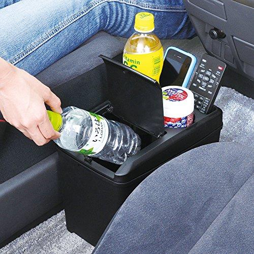 セイワ(SEIWA)車用ゴミ箱ダストボックスLドリンクおもり付きブラックW734