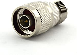 Maxmoral 2PCS N Male to UHF Female SO-239 SO239 Connector Straight RF Coax Coaxial Adapter