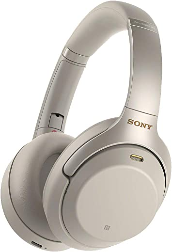 Sony WH1000XM3 Bluetooth Wireless Noise Canceling Headphones Silver WH-1000XM3/S (Renewed)