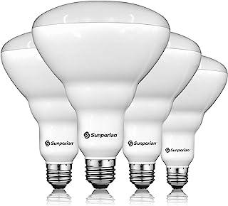 Sunperian BR40 LED Light Bulbs, 13W=85W, 5000K Daylight, 1400 Lumens, Dimmable Flood Light Bulbs for Recessed Cans, Enclos...