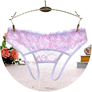 e89a8362a8a5 Women Thongs and G Strings Lace Transparent Panties for Sex Open Crotch  Briefs