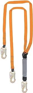 6' Double Leg External Shock Absorbing Lanyard with 3 Steel Snap Hooks, OSHA/ANSI Compliant
