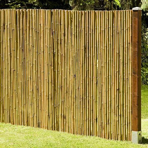 DE-COmmerce Natürlicher Sicht - und Windschutz Deluxe I Sichtschutz Garten Bambus mit geschlossenen Bambusrohren I Gartensichtschutz Rollzaun I Bambus Sichtschutzwand 200 x 250 cm