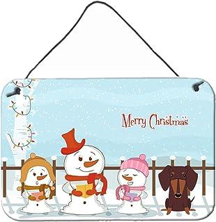 "Caroline's Treasures BB2462DS812 Merry Christmas Carolers Dachshund Chocolate Wall or Door Hanging Prints, 8"" x 12"", Multi..."