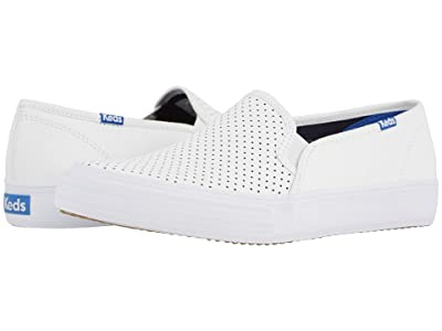 Keds Double Decker Perf Leather (White) Women