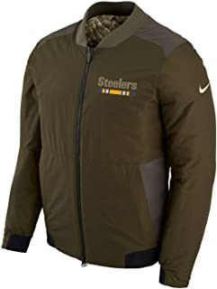 Pittsburgh Steelers Nike NFL Salute to Service Men's Reversible Bomber Jacket
