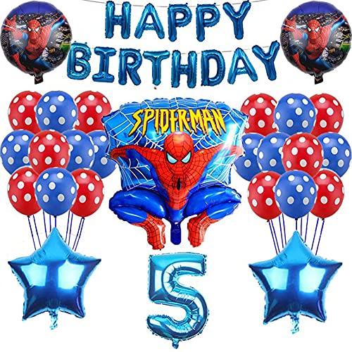 Globos de Látex de Nesloonp Decoracion Cumpleaños Spiderman Globos Fiesta de cumpleaños Globos Decoraciones Spider Man