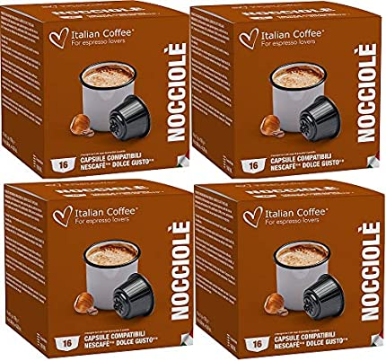 Dolce Gusto Café con Leche Sabor Avellana 64 Cápsulas Compatibles
