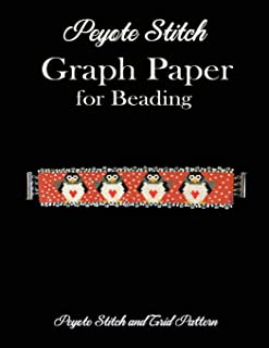 Peyote Stitch Graph Paper for Beading  - Peyote Stitch and Grid Pattern: 8.5 x 11