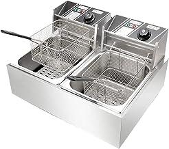 Fritadeira Elétrica 2 Cubas Aço Inox 10 Litros 220v 5000W