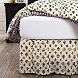 VHC Brands Elysee King Bed Skirt, 78x80x16