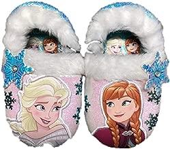 Disney Girls' Frozen Elsa Anna Snowflake Slippers