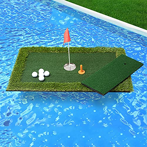 PLBBJH Floating Golf Putting Green,Golf Practice Mat Training Aid, Game and Gift for Home, Office, Outdoor Use