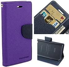 JMD Fancy Diary Wallet Flip Cover Case For Motorola Moto G4 / Moto G4 Plus / Moto G Plus (4th Gen) (Purple)