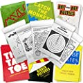 ArtCreativity Mini Activity Books for Kids - Set of 12-30 Paged Assorted Workbook Pads - Fun Road Trip Travel Games and Activities - Educational Party Favors and Stocking Stuffers for Boys and Girls