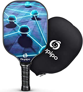 Pickleball Paddle, Composite Pickleball Racket Polypropylene Honeycomb Core Fiberglass Face Ultra Cushion 4.5In Grip 8.1oz Indoor Outdoor with Pickleball Paddles Cover, USAPA Pickleball Paddle, Blue