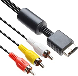 TENINYU Audio Video RCA Cable - Game Console Component Accessories Connection AV Cable for PS1 PS2 PS3 Playstation,6FT