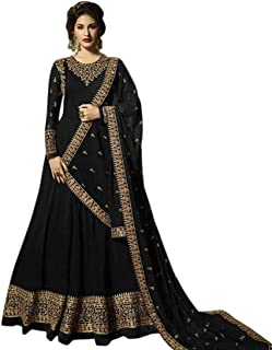 AnK Women's Georgette Long Anarkali Semi Stitched Salwar Suit With Dupatta