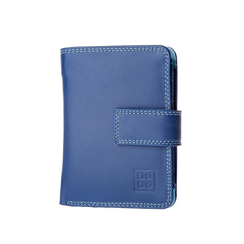 スナッチ各調査Petite femme portefeuille multicolore en cuir Nappa de carte de crédit DUDU Blue