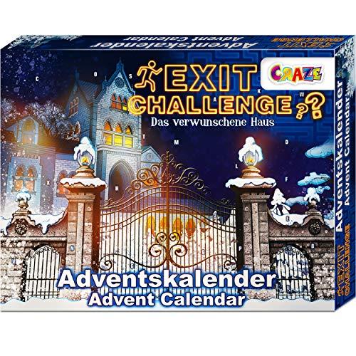 CRAZE Adventskalender EXIT CHALLENGE - das verwunschene Haus Escape Game spannende Rätsel für Kinder ab 8 Jahre und Erwachsene 24720