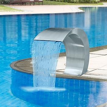 Amazon Com Tidyard Outdoor Garden Waterfall Pool Fountain Stainless Steel 17 7 X 11 8 X 23 6 Furniture Decor
