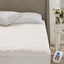 MARQUESS Quilted Heated Mattress Pad Single Controller,10 Heating Levels Fast Heating