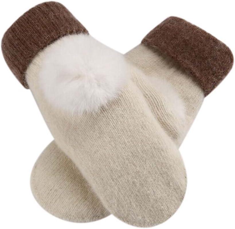 Panda Legends White,Lovely Warm Fingerless Gloves Woollen Gloves Fashionable Mitten for Women