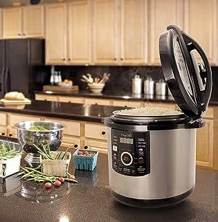 Megachef MCPR-3500 12 Quart Digital Pressure Cooker with 15 Presets, Silver