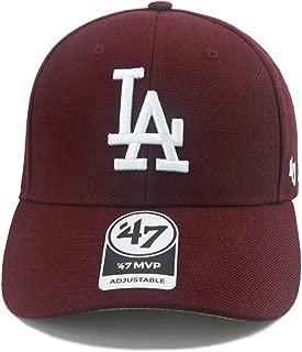 Los Angeles Dodgers MLB Baseball Cap Dark Maroon MVP Brand Adjustable Hat